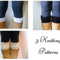 3 Knitting Patterns  Madison Boot Cuffs Pattern by LewisKnits