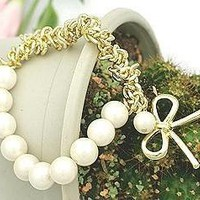 X1 Women Fashion Jewelry Korean Graceful Lolita Faux Pearl Sweetie Bracelet S04