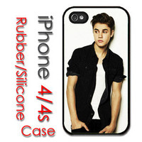 iPhone 4 4S Rubber Silicone Case - Justin Bieber Boyfriend Never say b12-3