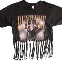 Black Beyonce Fringe Tshirt