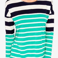 Colorblocked Slub Knit Tee | FOREVER 21 - 2028067580