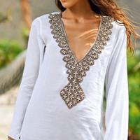 SAHA 2013: Breeze Whisper Beachwear Coverup V Neck Tunic K20 | Swimwear Boutique