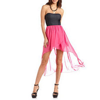 Strappy Back Hi-Low Tube Dress: Charlotte Russe