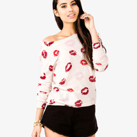 Kiss Print Sweater