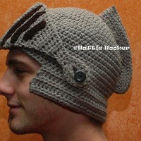 Crocheted Knight Helmet - $40 | The Gadget Flow