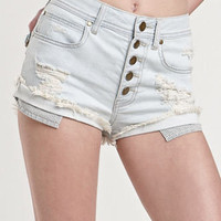 Kendall &amp; Kylie Frostbite High Waist Shorts at PacSun.com