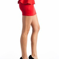 peplum skirt $16.10 in BLACK RED ROYAL - Skirts | GoJane.com