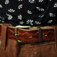 Vintage Burgundy Brown Leather Belt | Wanderland | ASOS Marketplace