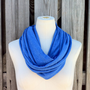 Infinity Scarf The GRANDE in ROYAL BLUE Heather Lightweight