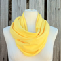 Infinity Scarf THE GRANDE All Season Loop Scarf in LEMON Zest Yellow