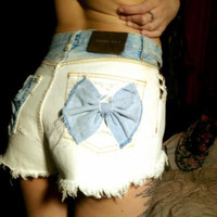 Calvin Klein High Waist Studded Ombre Bow Shorts