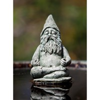 Campania International Fred The Meditating Gnome Cast Stone Garden Statue | www.hayneedle.com