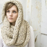 Extra Thick Wool Cozy Cowl/Circle Scarf Choose Your by mbgdesigns