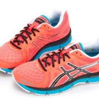 Amazon.com: Asics Womens Gel-neo 33 Running Shoes,Electric Coral-Black-Neon Blue: Shoes