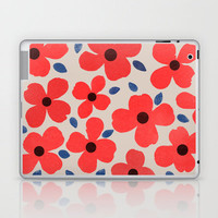Dogwood_Red Laptop &amp; iPad Skin by Garima Dhawan | Society6