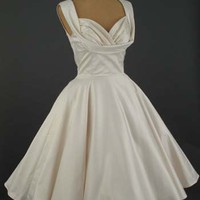 Trashy Diva 50&#x27;s Style Antique White Informal Wedding Dress