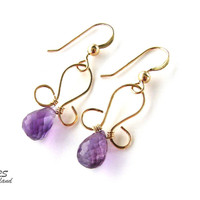 14K Gold Filled And Amethyst Earrings | RitaSunderland.com