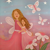 Always & Forever - Heavens Angels Childrens Fairytale Kids Art Prints