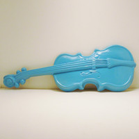 ceramic violin wall hanging