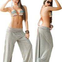 Amazon.com: Desert Tan Beach, Pool or Resort Wear Lace Pants: Clothing