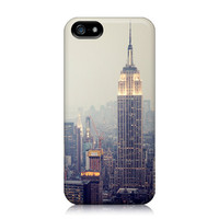 iPhone 5 Case - The View - New York Photograph, Empire State Building, Urban Skyline, Twilight, Fog