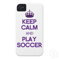 Keep Calm And Play Soccer (Purple) iPhone 4 Covers from Zazzle.com