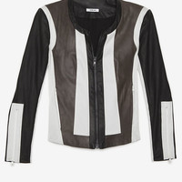 PREORDER Pax Combo Striped Leather Jacket-All Jackets + Outerwear-Jackets + Outerwear-Clothing- IntermixOnline.com