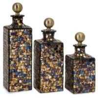 One Kings Lane - Adventures in Artistry - S/3 Moulin Mosaic Bottles