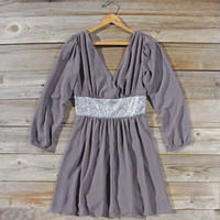 Twinkle &amp; Chiffon Party Dress in Gray, Sweet Women&#x27;s Party Dresses