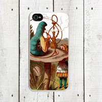 Alice in Wonderland iPhone case Hookah Caterpillar  by Arete