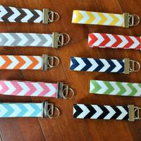 Fobskey - Fabric Key Fob - Riley Blake's Chevron - Option 2