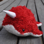 Narwhal Plush Red White Medium by OstrichFarm on Etsy