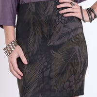 In Fine Feather Fitted Skirt - &amp;#36;19.50 : ThreadSence.com, Your Spot For Indie Clothing &amp; Indie Urban Culture