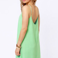 A Kiss For Luck Mint Green Midi Dress