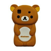 Brown 3D Rilakkuma Bear TPU Rubber Skin Case for Samsung© Galaxy S i9000
