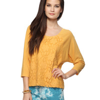 Lace Panel Raglan Top | FOREVER21 - 2005758290