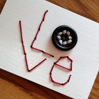 Love - Button Stitched ACEO 2