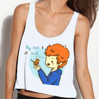 Ed Sheeran Little Bird Inspired Cartoon Tank