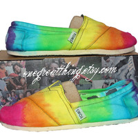 TOMS Tie Dye Shoes  Hot Fashion Staple  Bright by 1GreatThing