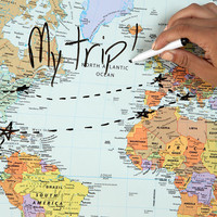 Urban Outfitters - Dry Erase World Map