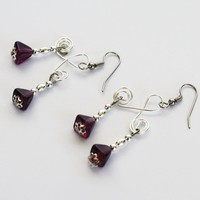Purple Double Dangles