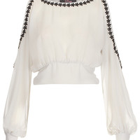 **Embroidered Crop Top by Rare - Tops - Clothing - Topshop
