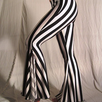 Flare tribal pants black and white stripes YOUR by creaturre