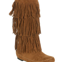 Tiered Fringe Boot | Shop Shoes at Wet Seal