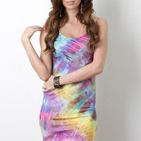 Vibrant Watercolor Dress