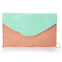 The Envelope, Please Mint and Peach Clutch