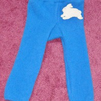 Cashmere Longie with White Bunnie Applique, Size 0-3mo.