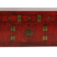 One Kings Lane - Eastern Influence - Calvin 2-Door Sideboard, Red