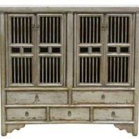 One Kings Lane - Eastern Influence - Patrick 5-Drawer Cabinet, Silver