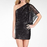 Jessica Howard One Shoulder Draped Sequin Dress : dresses : women : jcpenney